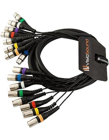 Boucle 8 voies 3m RCA phono /à RCA phono//Patch deffets//C/âble multibrins