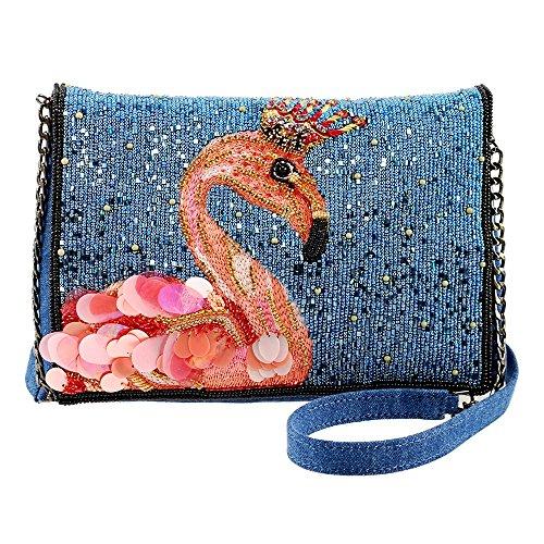 Novelty FRANCES Handbag Flamingo Denim Queen Crossbody MARY Embellished ZApYfqq