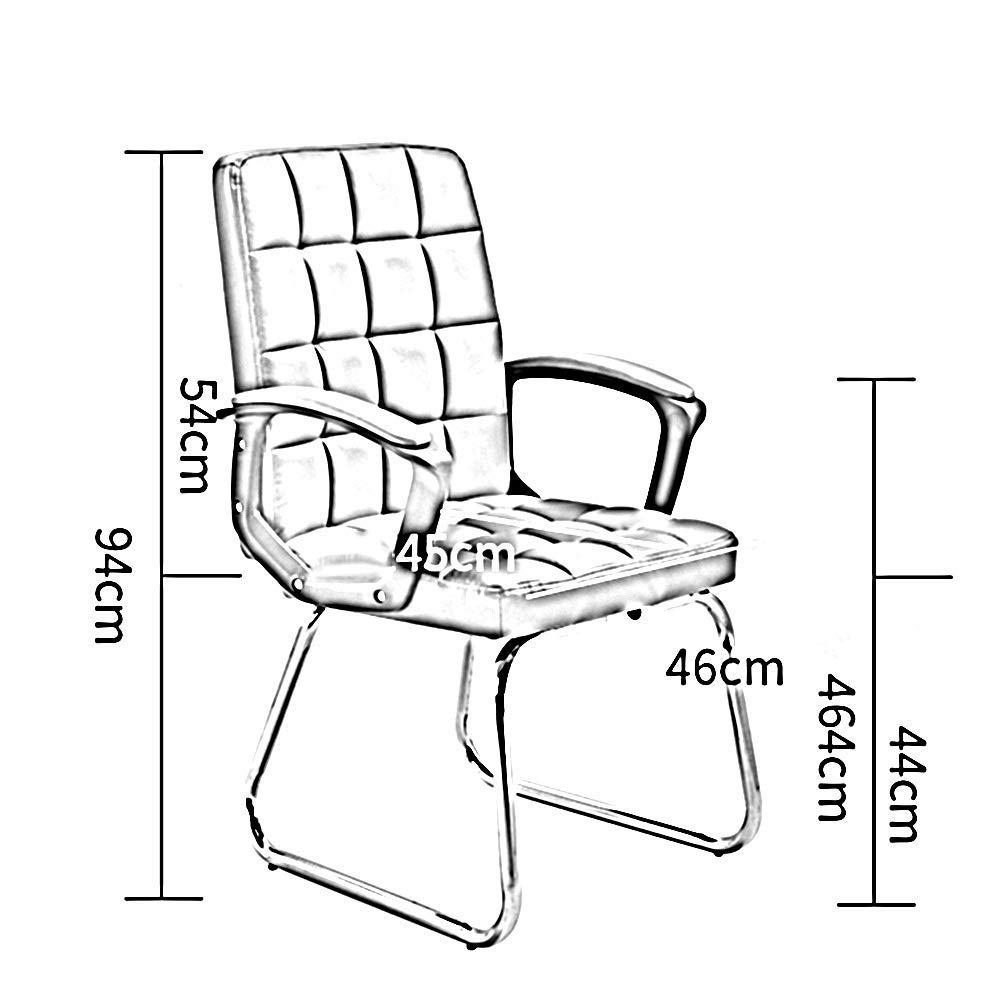 Dalovy bekväm datorstol, ergonomisk kontorsstol rosett fot läder skrivbord spelstol bärkapacitet: 150 kg Vitt