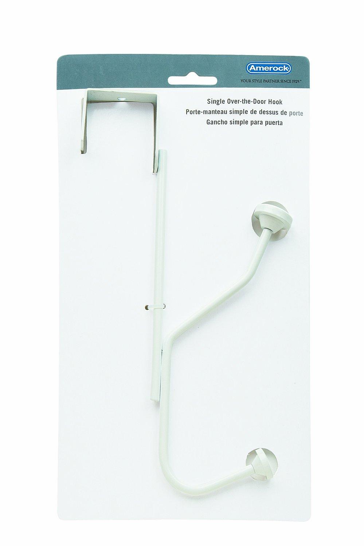 Amerock H55540S Over-the-Door Single Hook Silver