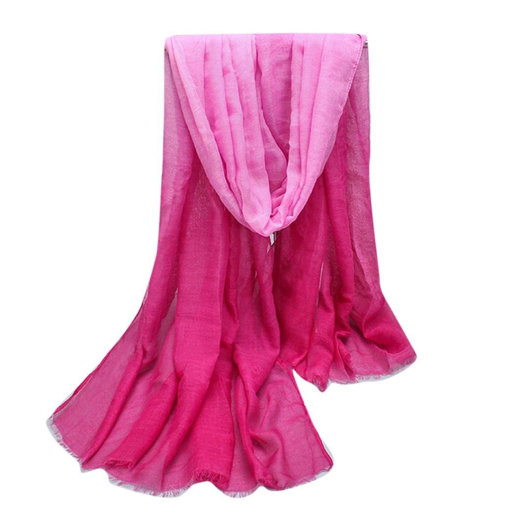BZLine Écharpe Foulard en Coton mélangé - à Couleur fondue - Femme   Amazon.fr  Vêtements et accessoires 435a3b604a7