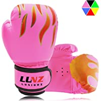 Luniquz Kids Boxing Gloves, Child Punching Gloves for Punch Bag Training, Fit 3 to 8 Years