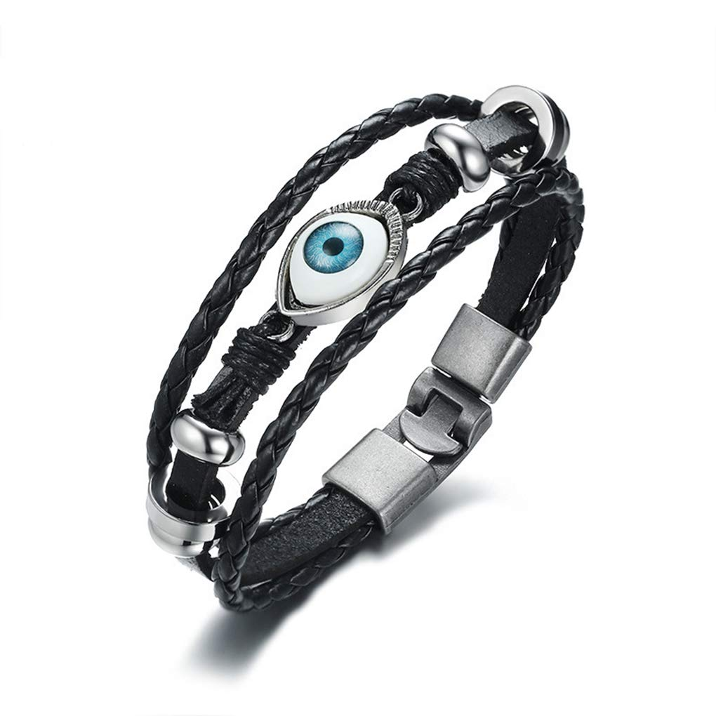 FENDINA Men's Turkish Blue Evil's Eyes Bracelet Men Women Couple Models Jewelry Devil's Eye Students Birthday Gift