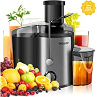 Juice Extractor, VICELEC BPA-Free Juicer Machine with Juice Jug and Pulp Container,Dual Speed Vegetable Centrifugal Juicer for Fruit & Vegetable