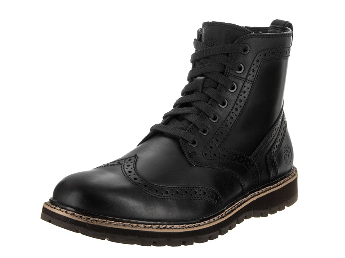 Timberland Mens Britton Hill Wingtip Black Boot 11.5