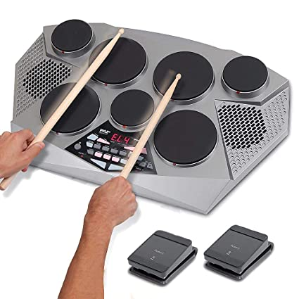 Amazon Com Pyle Pro Electronic Drum Kit Portable Electric