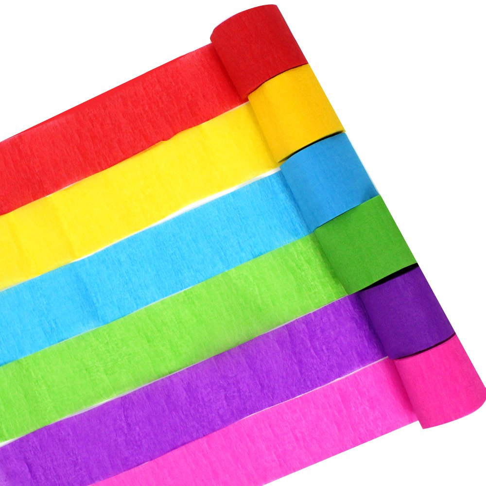 6 Colors for Birthday Party, Class Party,Family Gathering ,Graduation Ceremony Decorations for Birthday Party/, Class Party/,Family Gathering /,Graduation Ceremony Decorations n//a Coceca 36 Rolls Crepe Paper Streamers
