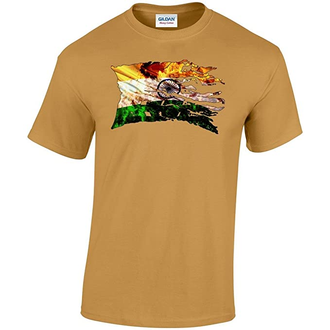 Bandera rasgarse Collection 2, Old Gold Heavy Cotton-Camiseta para hombre manga corta,