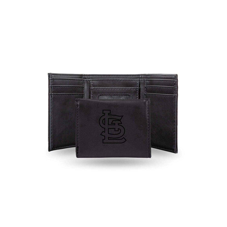Rico Industries Cardinals Sl Laser Engraved Black Trifold Wallet
