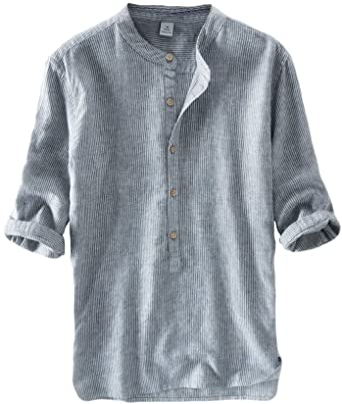 DianShaoA Camisas De Lino Basicas Hombre 1/2 Manga Chino Casual Camiseta Tops Shirts: Amazon.es: Ropa y accesorios