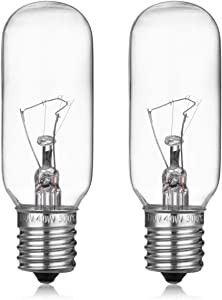 Light Bulb for GE Microwave Oven - Microwave Light Bulb Lamp for GE Whirlpool Maytag Frigidaire Kenmore Over the Range Hood Microwave, Stove Light Bulb for GE microwave, Repalces WB36X10003, 2 Pack