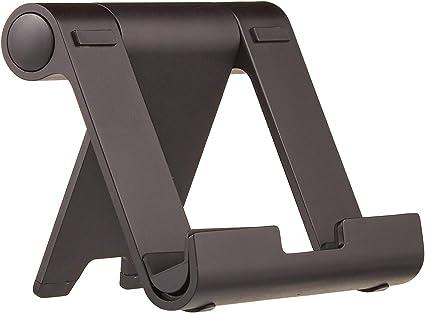 E-Reader und Handys Basics Tragbarer St/änder mit verstellbarem Betrachtungswinkel f/ür Tablets Schwarz /& Tablet-St/änder verstellbar