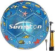 Senston Soccer Ball for Kids Training Soccer Ball Size 3 Toddler Football Balls with Pump