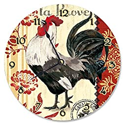 Stupell Industries French Kitchen Rooster Vanity Clock, Proudly Made in USA