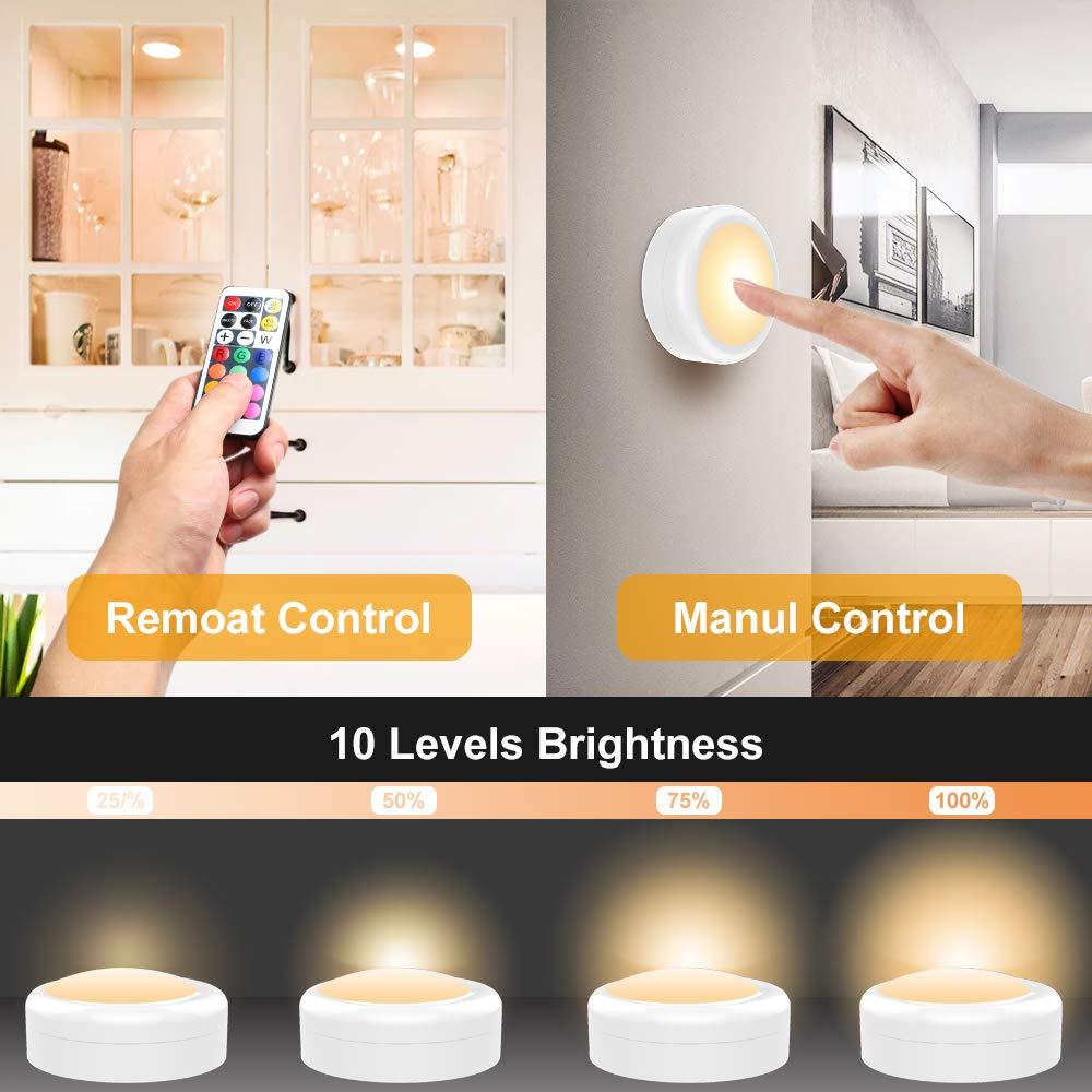 Schrankbeleuchtung LED Nachtlicht RGB Schrankleuchten mit Fernbedienung LED Beleuchtung Treppen Lampe Licht Unterbauleuchten Kabinett LED Batteriebetrieben Schr/änkeleuchte f/ür K/üche Schlafzimmer Gang