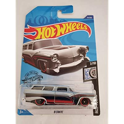 Hot Wheels 2020 Rod Squad 8 Crate, Silver 74/250: Toys & Games