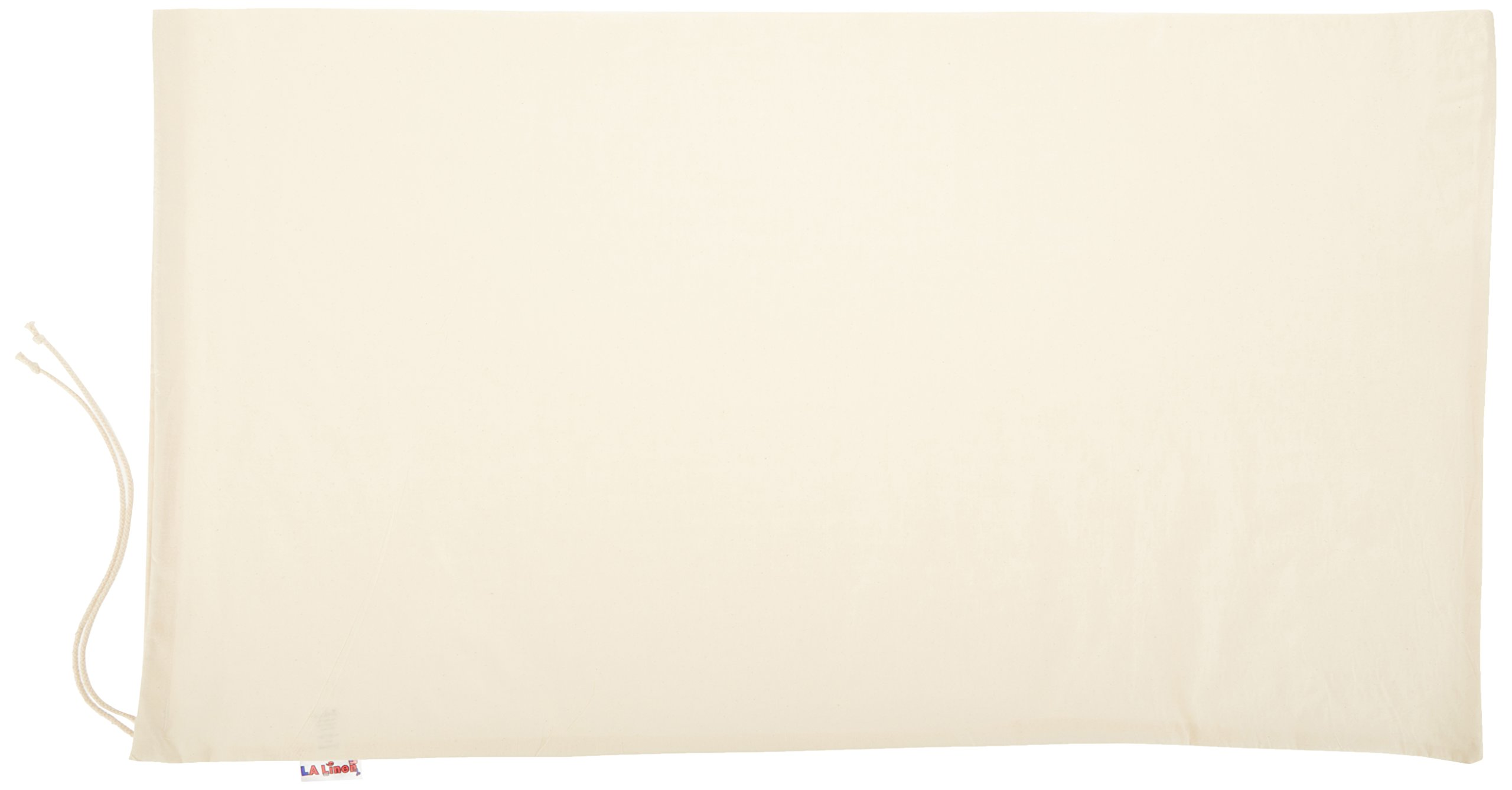 LA Linen 100% Cotton Extra Large Canvas Draw String Laundry Bag 28 by 40-Inch High. Pack 10