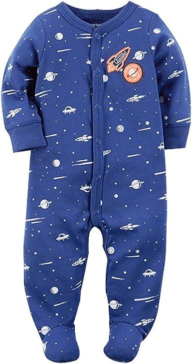 Recién Nacido Pijama Bebé Pelele Niños Mameluco Algodón Caricatura Trajes 0-12 Meses: Amazon.es: Ropa y accesorios