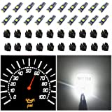 WLJH 74 Led Bulb Dash Lights Super Bright T5 2721 37 70 286 Wedge PC74 Twist Socket Automotive Instrument Panel Gauge…