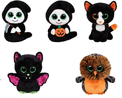 Image Unavailable. Image not available for. Color  Set of 5 (2015) Halloween  Ty Beanie Boos ... c0685d94034d