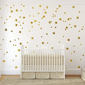 Amazon.com: Gold Wall Decal Stars (123 Decals) | Easy to Peel Easy ...