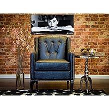 TOV Furniture TOV-A45 Roxbury Leather Club Chair, Black