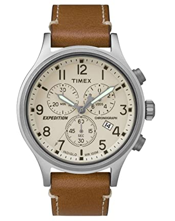 e9bda002ea1a Timex Reloj Cronógrafo para Hombre de Cuarzo con Correa en Cuero TW4B09200   Amazon.es  Relojes