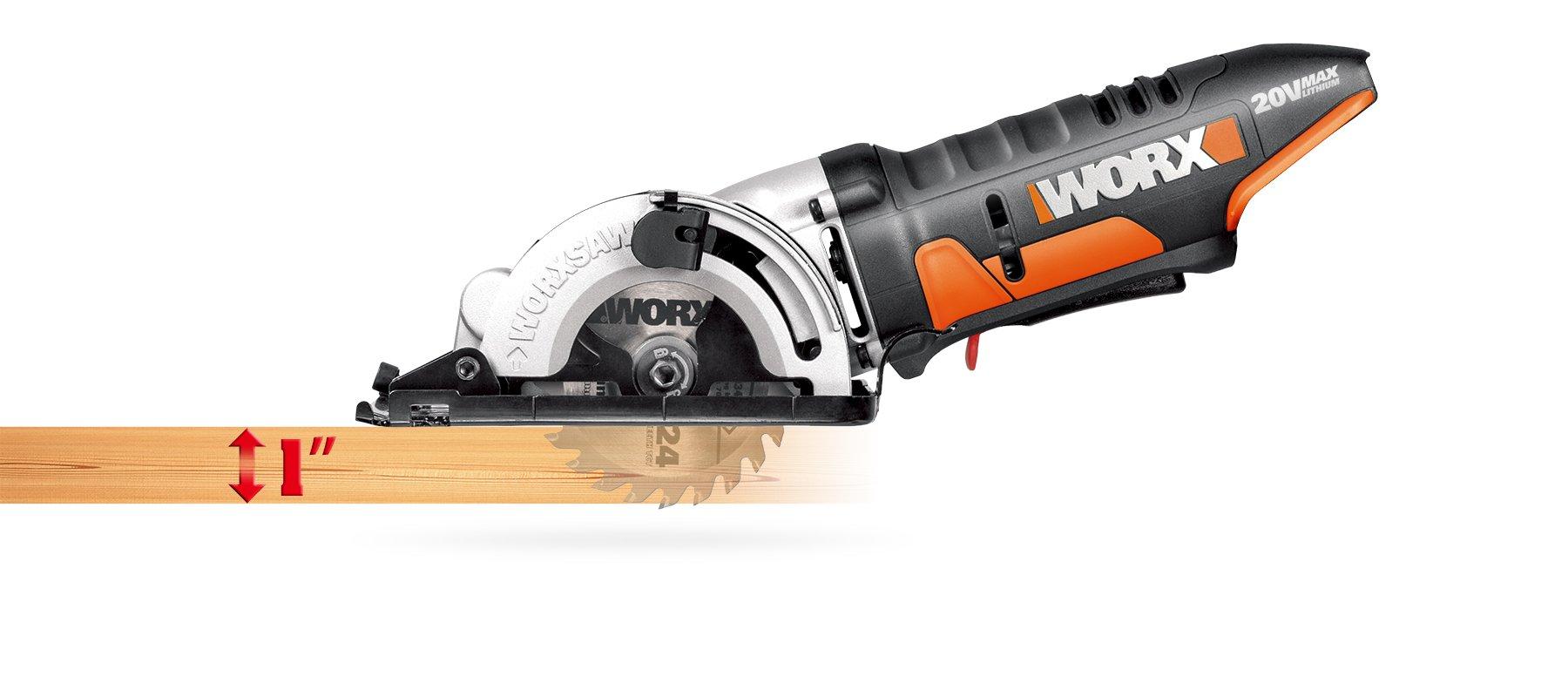 WORX WX523L.9 20V WORXSAW Tool Only, 3-3/8''
