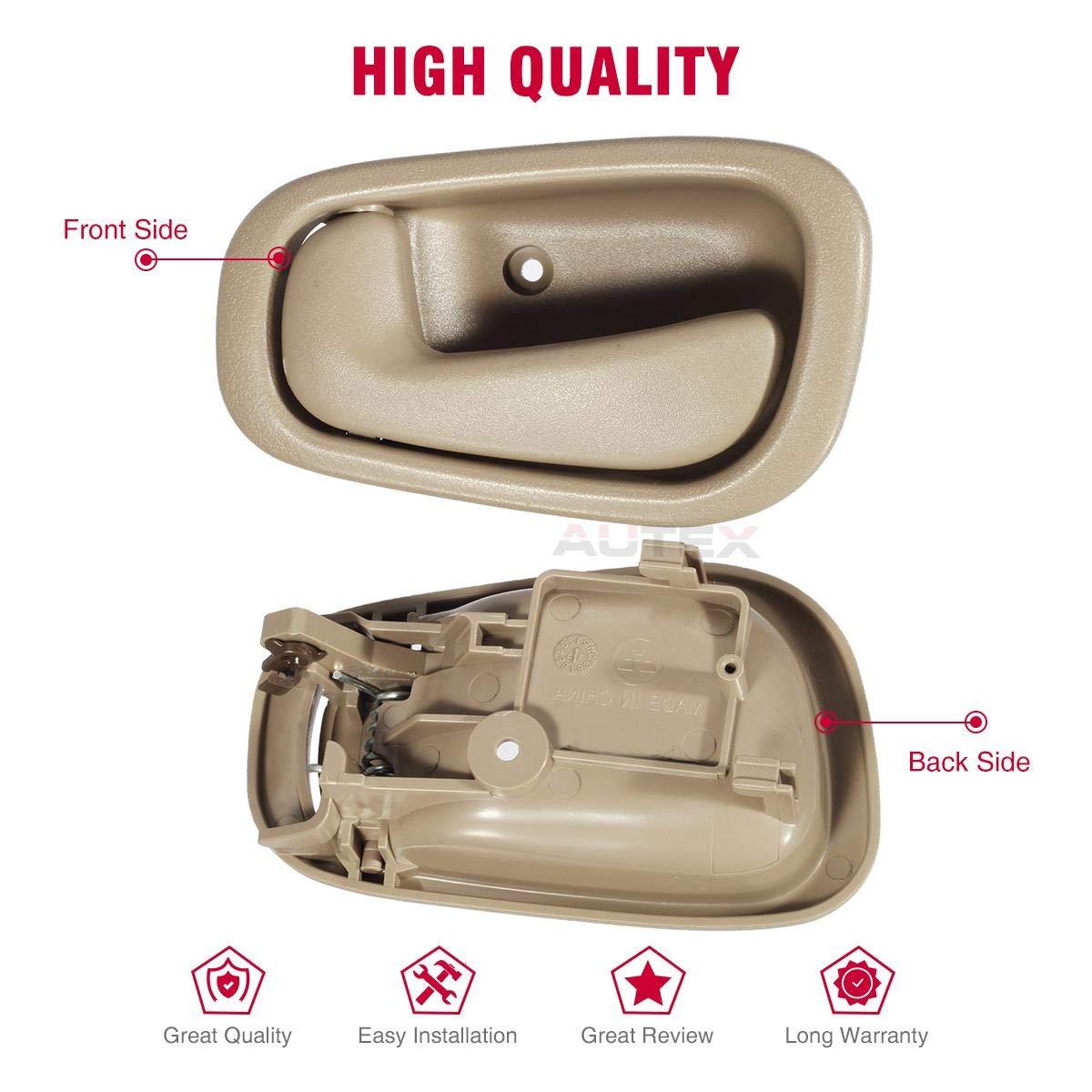 Beige AUTEX 1pc Interior Front/Rear Left Driver Side Door Handle ...