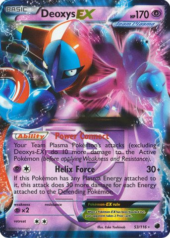 - Pokemon - Deoxys-EX (53/116) - Plasma Freeze - Holo