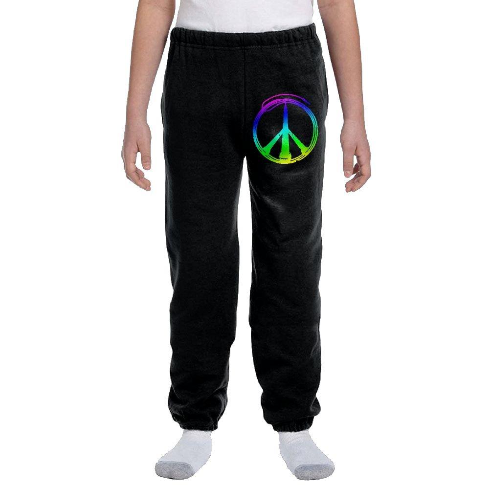 Youth Soft/Cozy Sweatpants Music Peace-1 Active Pants