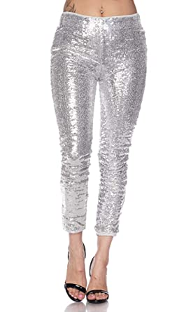 aca68312 Image Unavailable. Image not available for. Color: High Waisted Sequin  Leggings in Rose Gold ...