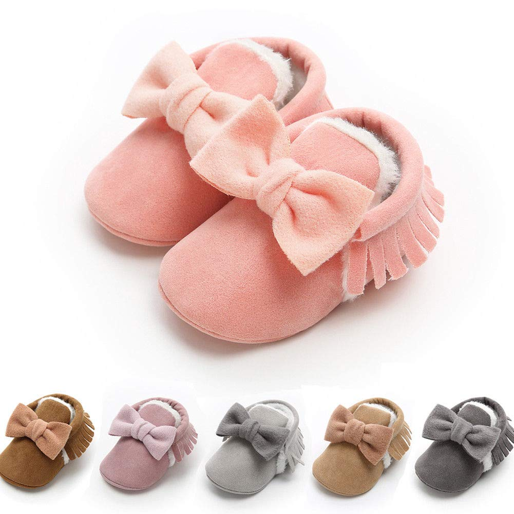 Toddler Baby Prewalker Shoes Newborn Soft Sole Princess Girl Crib Shoes