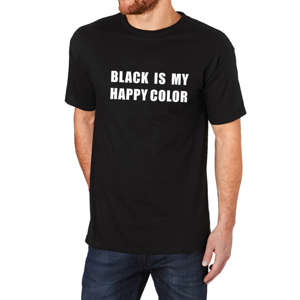 Loo Show Black Is My Happy Color Crew T Shirt Tee