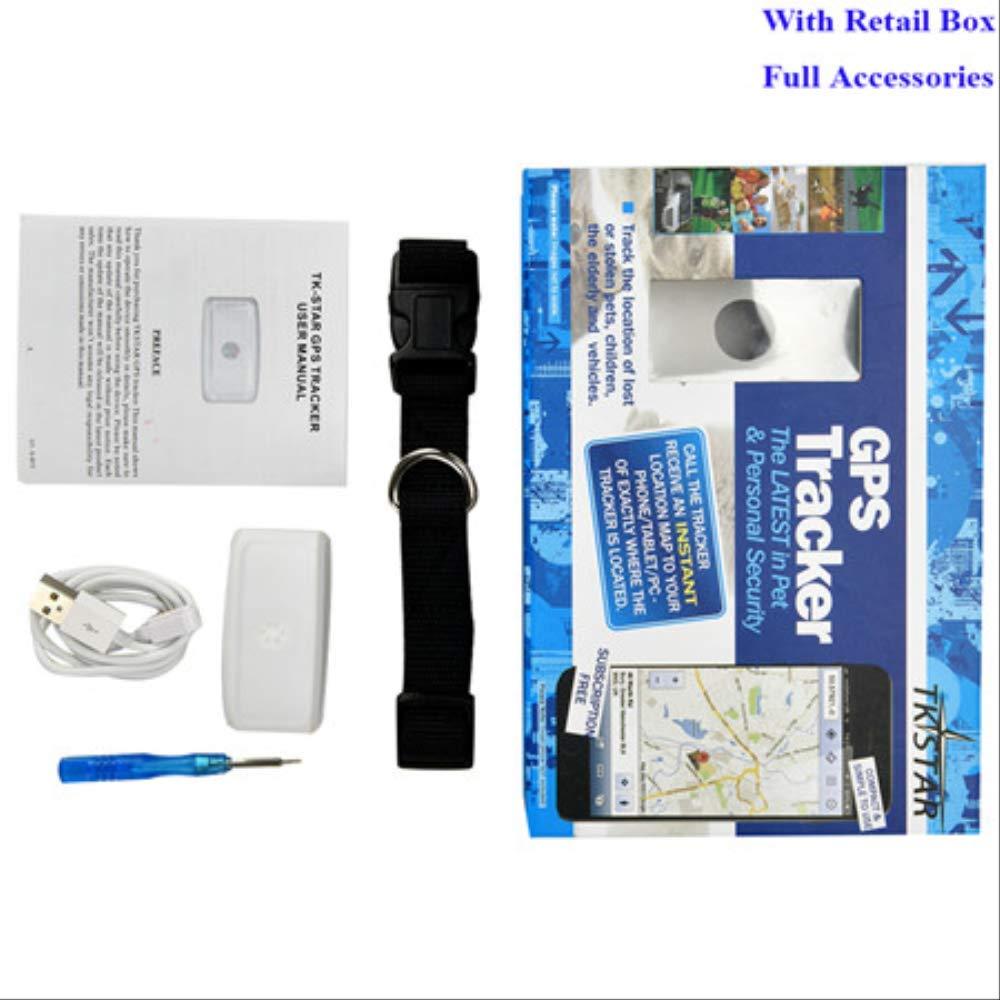 Mini Pet Dog GPS Tracker Waterproof Ip66 Lbs WiFi Free App Web Standby Pets Tracking Device Voice Monitor with Box