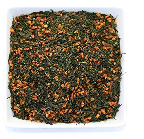 Tealyra   Gen Mai Cha Supreme   Japanese Loose Leaf Tea   Organically Grown   Genmaicha Green Tea With Brown Roasted Rice   Caffeine Level Low   100G  3 5 Ounce