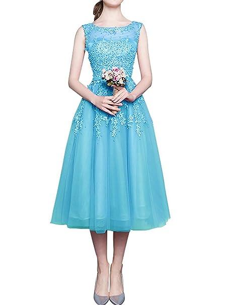 JAEDEN Princesa A-Line Vestido de Fiesta Corto Tul Encaje Vestido de Novia Vestido de