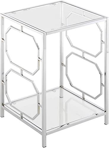 Convenience Concepts Omega Chrome End Table