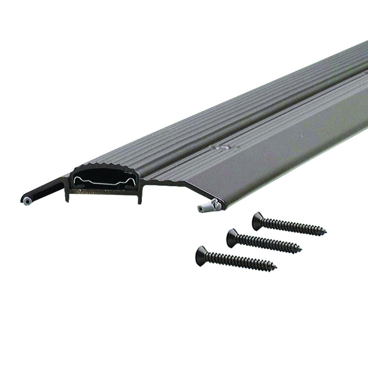 Low 3-3/4'' Wide Aluminum Door Threshold with Vinyl Seal - #99025