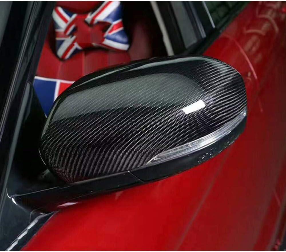 LYSHUI Les r/étroviseurs lat/éraux de Voiture en Fibre de Carbone Couvrent Les couvertures des r/étroviseurs pour Range Rover Evoque