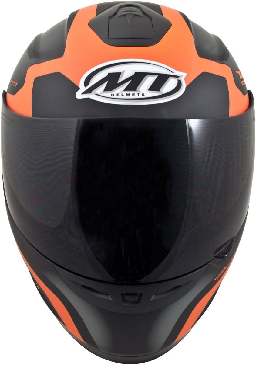 Motorcycle MT Helmets Thunder Squad Helmet Black Orange L UK Seller