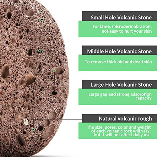 Natural Pumice Stone Foot Scrubber - Earth Volcanic Lava Pumice Stone Foot Exfoliater Callus Remover Exfoliating Rock for Feet Heel Hand Body Dead Skin Removal Home Pedicure Exfoliation Tool 2 in 1 by INCOK (Image #7)