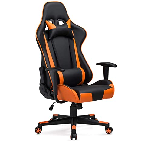 Stupendous High Back Gaming Chair 300Lb Heavy Duty Julyfox 180 Lay Flat Reclining Office Chair With Removable Head Lumbar Pillow Tilt Control Pu Leather Ibusinesslaw Wood Chair Design Ideas Ibusinesslaworg