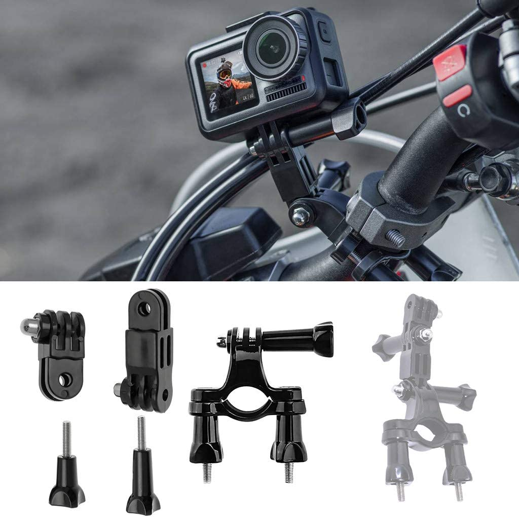 heavKin-Camera Compatible with DJI Action Motorcycle Bike Handlebar Seatpost Pole Mount Stand