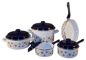 9 Piece Enamel Cookware Set