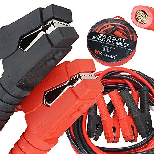 Cable Automotive Booster (Voilamart Auto Jumper Cables 1 Gauge 1200AMP 20Ft w/ Carry Bag, Instruction Slip, Commercial Grade Automotive Booster Cables, Heavy Duty for Car Van Truck)