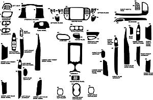 Rvinyl Rdash Dash Kit Decal Trim for Ford Expedition 1997-1998 - Wood Grain (Burlwood Dark)