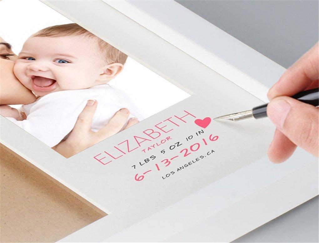 Baby Handprint Kit /& Footprint Photo Frame Memorable Keepsakes Gift for New Born,Baby Shower or Christening Gift,Toddlers Birthday Presents RoseFlower Gorgeous Keepsake Frame with Clay Imprint #4