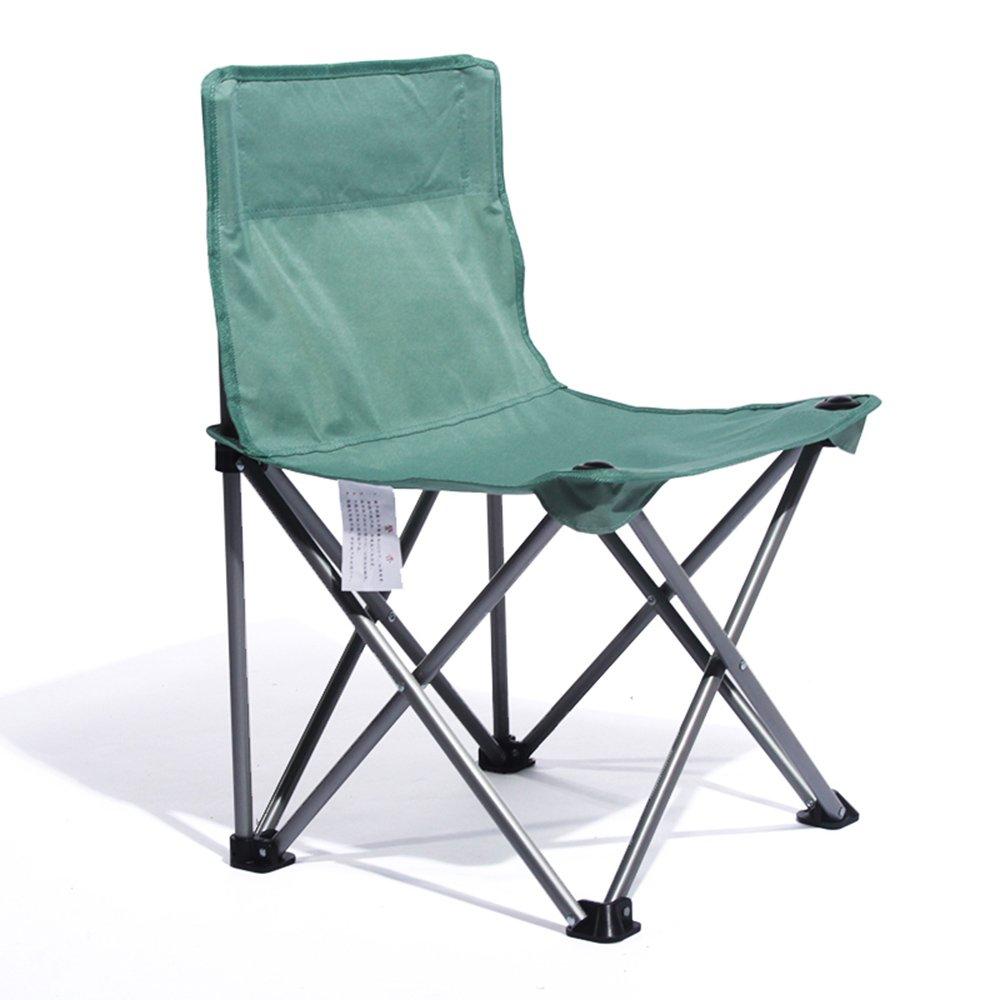 QFFL ポータブル創造的な実用的な折りたたみ椅子/快適な単純な背もたれの椅子/多機能屋外釣りカジュアル折りたたみ椅子 アウトドアスツール (色 : Green) B07F5SL5WV Green Green
