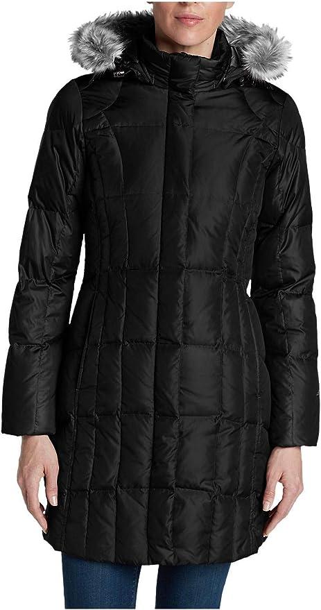 +13 NWT Eddie Bauer Women/'s Lodge Down Parka Coat 550 FP Faux Fur Hood